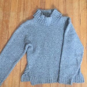 Sweaters - Gray Turtleneck Sweater